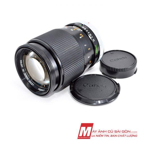 Lens chân dung MF Canon FD 135F2.5 SSC xóa phông đẹp ngàm FD