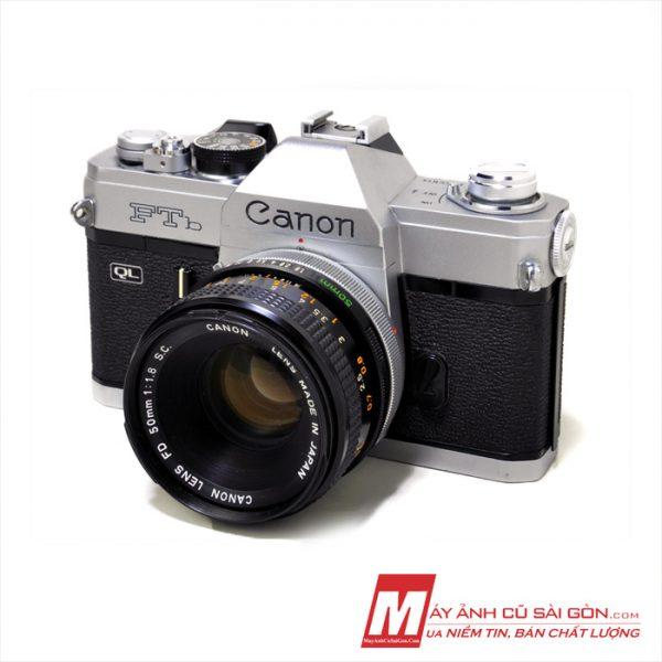 Máy ảnh Film Canon FTb ngoại hình đẹp cơ tốc đo sáng tốt giá rẻ